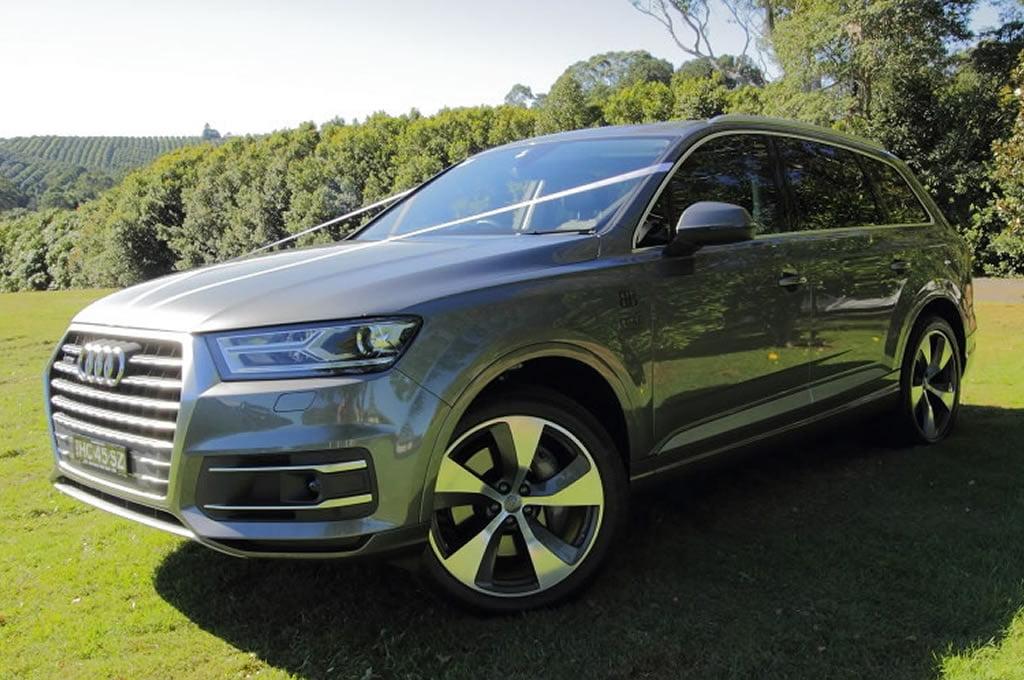 Audi Q7 luxury European car hire for weddings Byron Bay