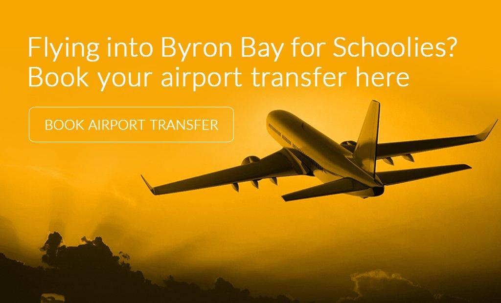 Schoolies Byron Bay Airport Transfers